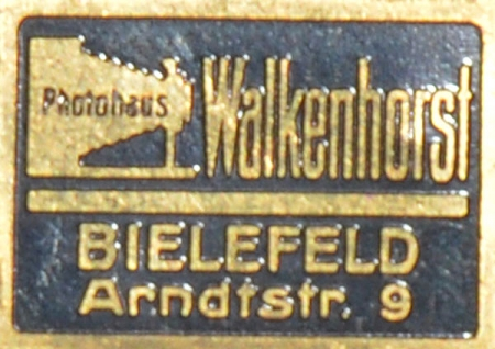 Messingschild Photohaus Walkenhorst Bielefeld