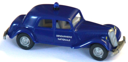 Citroen 15 SIX Militär Gendarmerie Nationale ultramarinblau