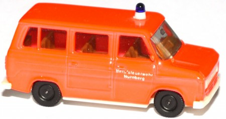 Ford Transit MK2 Bus Feuerwehr tagesleuchtrot