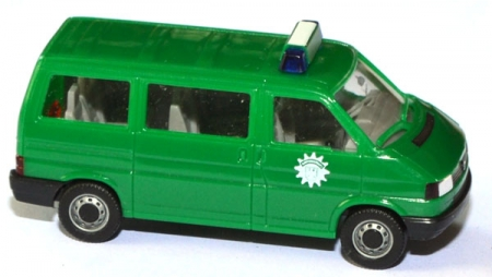 shop f r gebrauchte modellautos vw t4 bus caravelle bundespolizei gr n. Black Bedroom Furniture Sets. Home Design Ideas