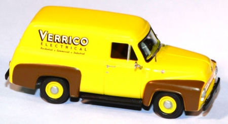 Ford F-100 1955 Panel Truck Verrico Electrical Company gelb