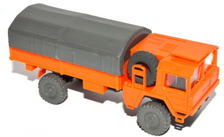 MAN 453 4x4 Pritsche mit Plane orange