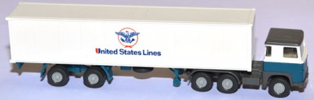 Scania 111 LBT Containersattelzug United States Lines