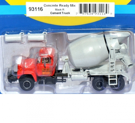 Mack R Cement Truck, Concrete Ready Mix Betontransporter rot