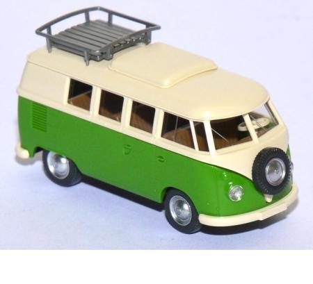 shop f r gebrauchte modellautos vw t1 bus camping gelbgr n. Black Bedroom Furniture Sets. Home Design Ideas