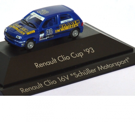 Renault Clio 16V Clio Cup ´93 Braden Immobilien Fred Weiss #28 blau