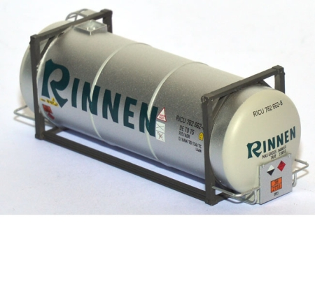 Tankcontainer 20ft. Rinnen silber