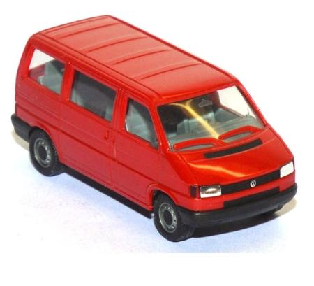 shop f r gebrauchte modellautos vw t4 caravelle bus rot. Black Bedroom Furniture Sets. Home Design Ideas