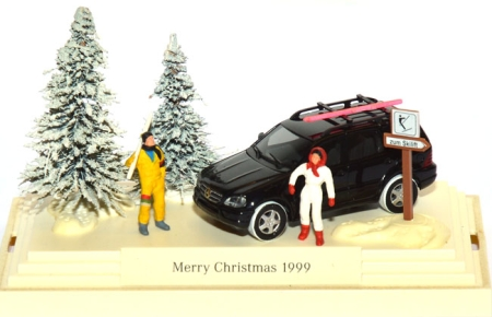 Mercedes-Benz ML 55 AMG Facelift (W163)) - Merry Christmas 1999 Minidiorama schwarz