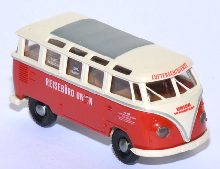VW T1 Bus Samba Reisebüro Union rot