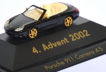 Porsche 911 Carrera 4S Cabrio - 4. Advent 2002 schwarz
