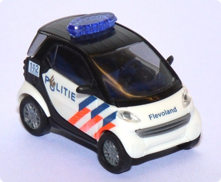 Smart City Coupe Politie Polizei Niederlande / Holland weiß