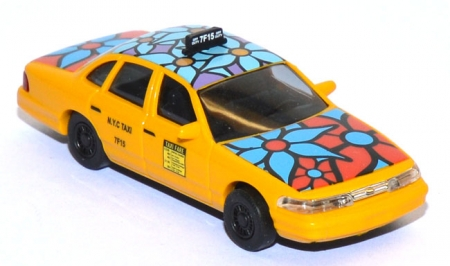 Ford Crown Victoria blue flower Taxi 49031
