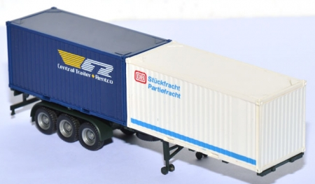 Containerauflieger mit 2 20 ft. Container DB + CTR