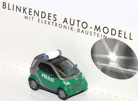 Smart City Coupe Polizei - Blinkendes Auto-Modell mit Elektronik-Baustein grün 5624