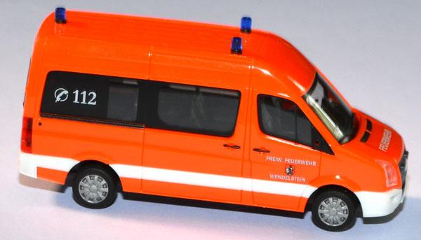 Herpa 1//87 049726 VW Crafter Bus Feuerwehr Wendelstein OVP LN758