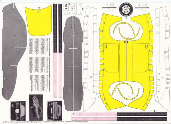 1zu87.eu | shop für gebrauchte modellautos - bastelbogen opel gt