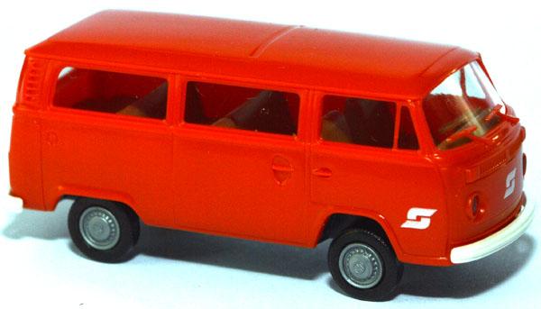shop f r gebrauchte modellautos vw t2 bus sterreichische bundesbahn bb rotorange. Black Bedroom Furniture Sets. Home Design Ideas