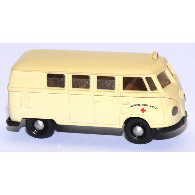 shop f r gebrauchte modellautos vw t1 bus krankenwagen drk deutsches rotes kreuz creme. Black Bedroom Furniture Sets. Home Design Ideas