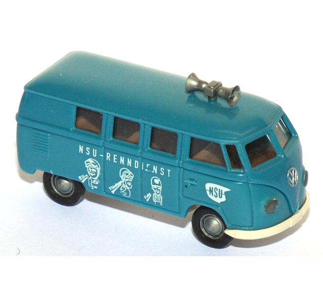 shop f r gebrauchte modellautos vw t1 bus nsu renndienst blau. Black Bedroom Furniture Sets. Home Design Ideas