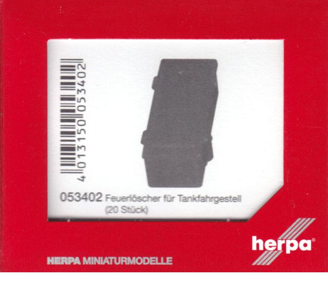 053402 Nr 20 Stück Herpa Zubehör Feuerlöscher für Tankfahrgestell
