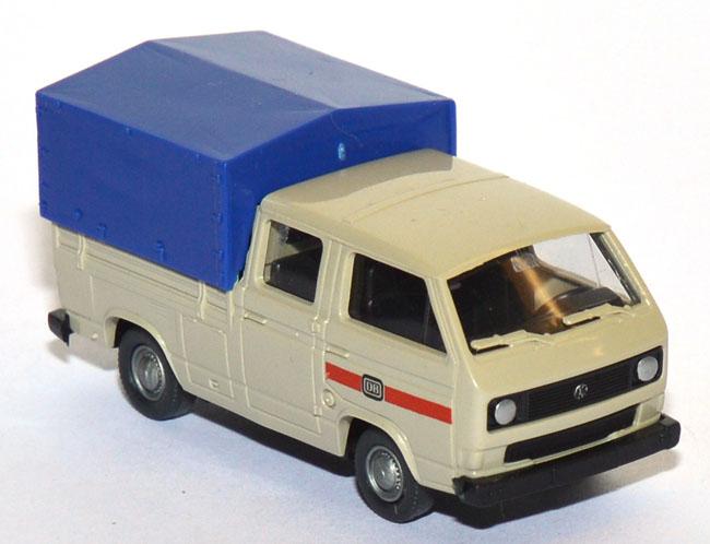 ROCO 1555 VW T3 DOPPELKABINE PRITSCHE PLANE DB 1:87