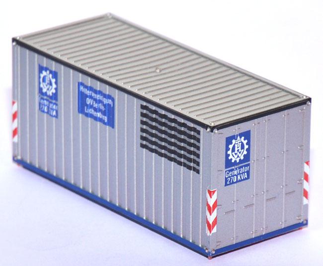 1zu87.eu   Shop für gebrauchte Modellautos - Generator Container THW ...
