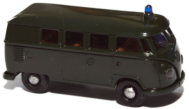 shop f r gebrauchte modellautos vw t1 bus polizei dunkelgr n. Black Bedroom Furniture Sets. Home Design Ideas