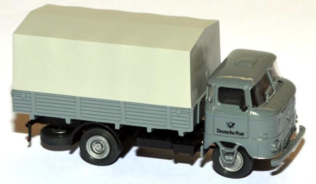 shop f r gebrauchte modellautos ifa w50 lkw pritsche plane deutsche post grau. Black Bedroom Furniture Sets. Home Design Ideas