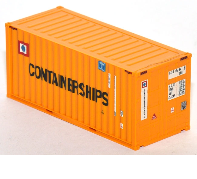 Container 20 ft. Containerships gelb