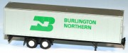 Piggyback Trailer 40` Burlington Northern