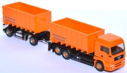 MAN TG 460 A Abrollcontainer-Lastzug Meiller Trucknology Generation orange